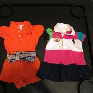 Ralph Lauren dress and Romper 9m